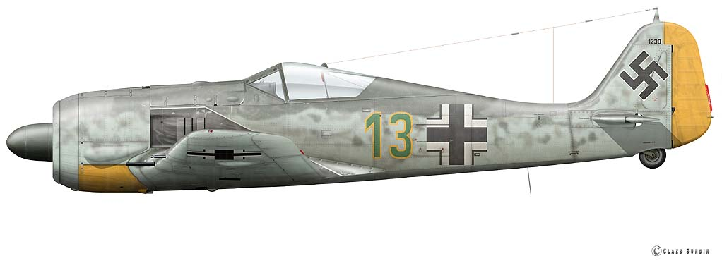 5 - Fw 190 A-5 Stab.JG 2_Walter Oesau_Beaumont le Roger France  Juin 1943