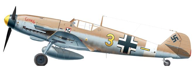 Franz schwaiger Bf 109F-4 Trop _ 3 Jaune_
