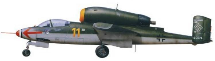 He 162 A-2 de Karl-Emil Demuth, 3.JG1. Leck Allemagne Mai 1945