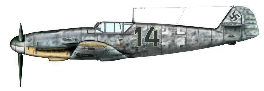 Horst Berger  Bf 109F 14 Noir, 8JG5_Finland.1