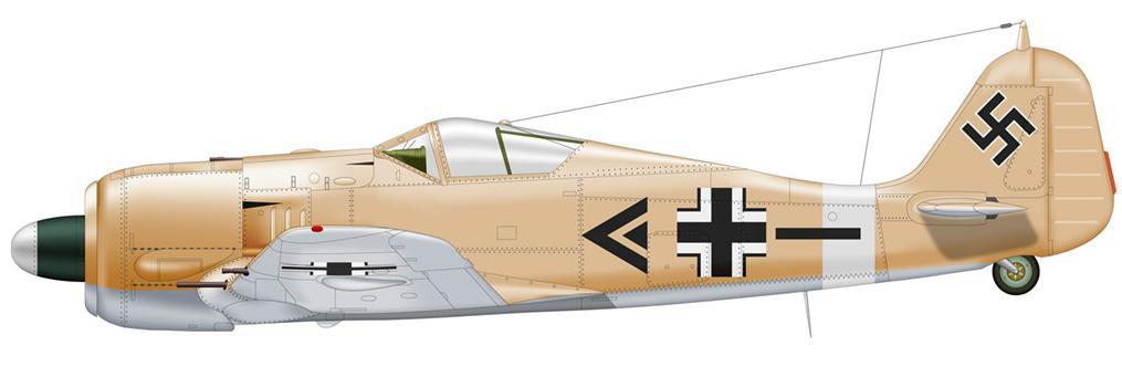 2-Fw 190A- 4  de Adolf Dickfeld. Stab II.JG2  Karoyan - Tunisie - 1942