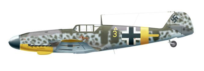 38. Bf 109G-4 Yellow 3 flown by Unteroffizier Hans Waldmann 6.JG 52, June 1943