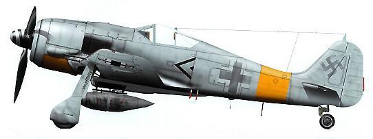 6-Fw 190 A7. de Rolf Hermichen. Stab.I.JG11, Rotenburg 1944