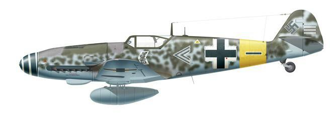 7-Me. Bf 109G-5AS de Günther Specht. II.JG11, Avril 1944