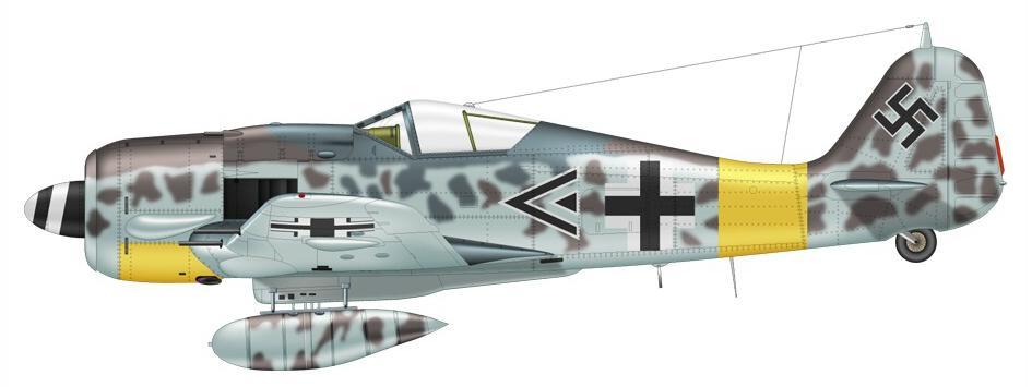 9-Fw 190A-7 de  Hans Heinrich Koenig I.JG11 mai 1944