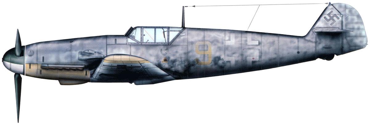 Bf 109F-4_Fw.Walter Schuck. Petsamo, Finland, Winter 1942-1943.