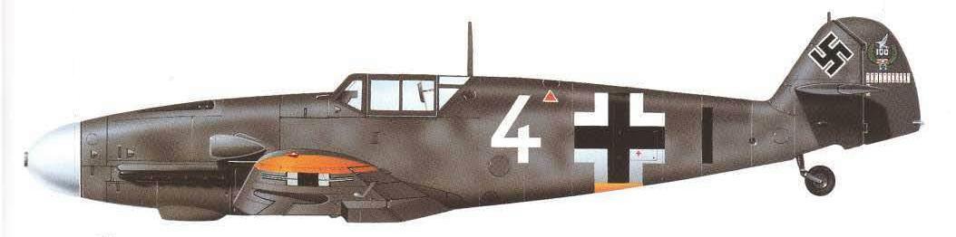 Bf 109G 2 oberleutnant Theodore Weissenberger