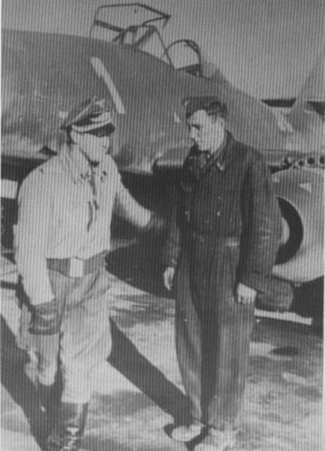 Franz Schall et son Me 262 - Kommando Nowotny