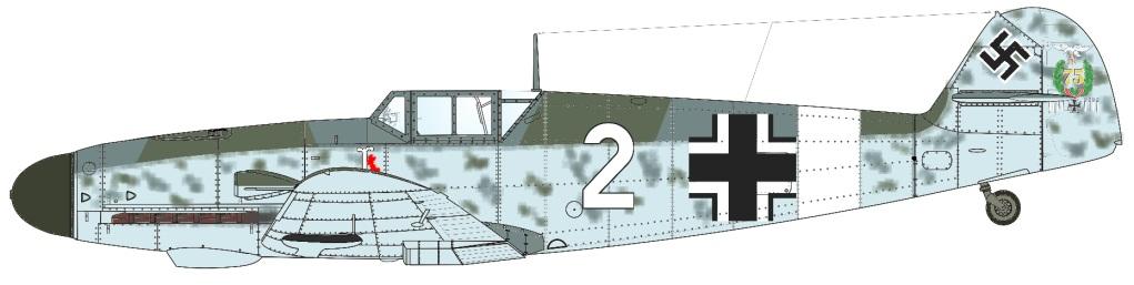 Freytag 109G-2 2 Blanc I.JG77 G-2  Campagne de Malte fin  Septembre 42