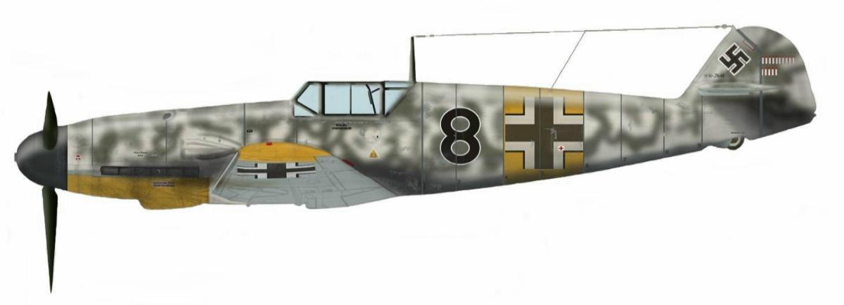Fritz Tegtmeire. Bf 109F-4 du 2-JG54 Russie 1941
