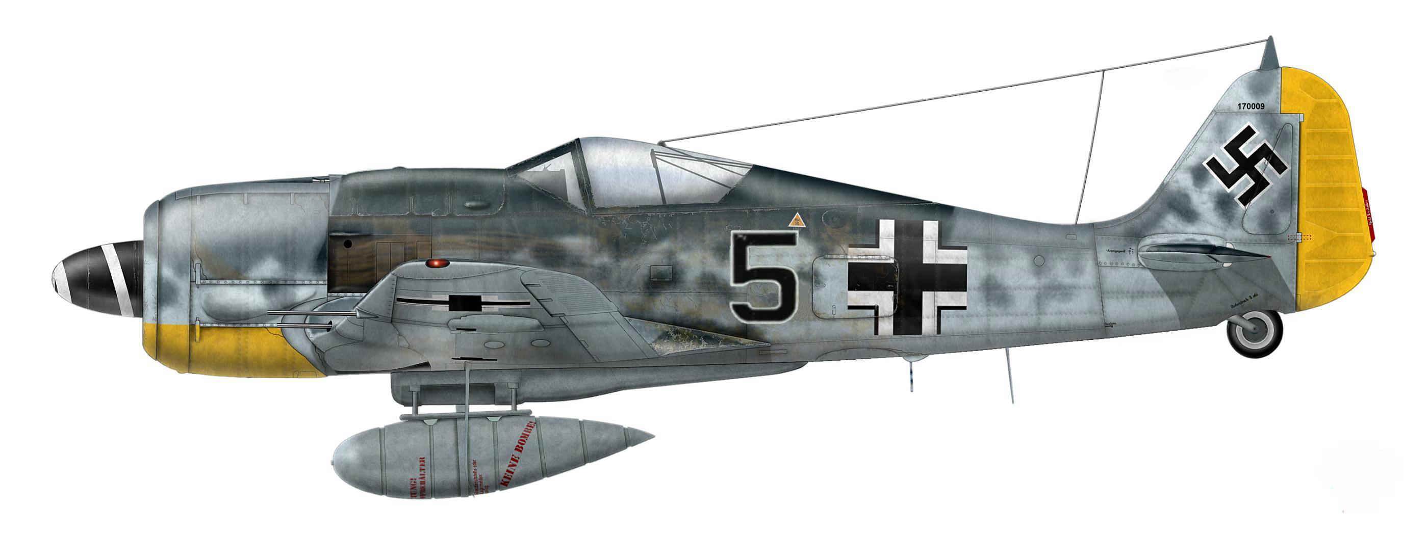 10.5 - Fw 190 A-8, de Karl Willius, 2.JG26, France 1944