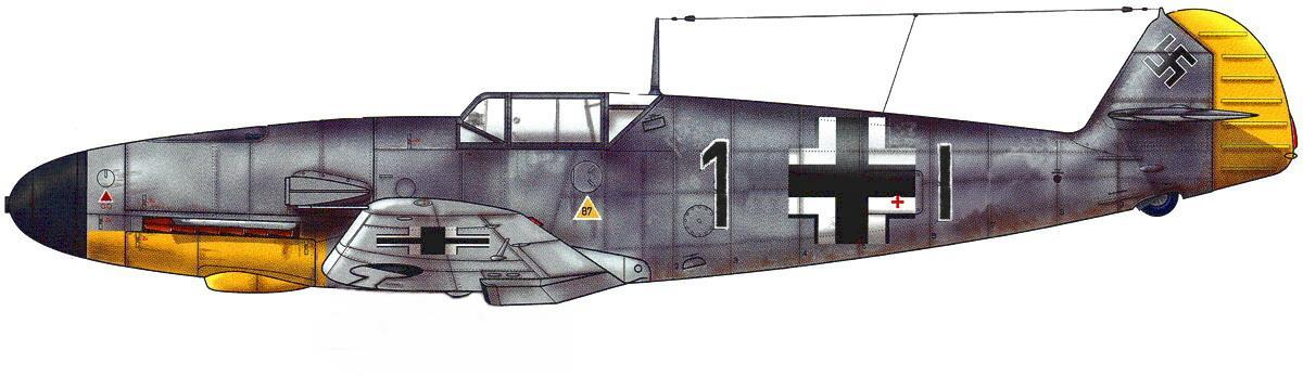 12 - Me Bf 109 F4 de Johann Schmid, France 1941