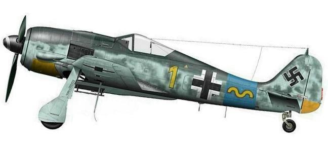 16 - Fw 190 A-8 de Rudolf Klemm, 15.JG 54, fin 1944.