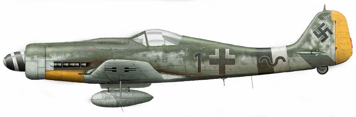 17 - Fw 190 D-9, Hans Dortenmann, 14.JG26, Varrelbusch, Allemagne Mars 1945