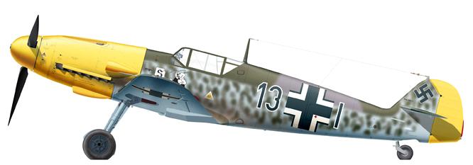 21 - Bf 109F-2 de l'Oberleutnant Gustav Sprick, 8.JG 26, Juin 1941.