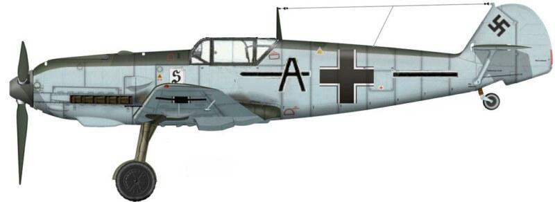25 - Bf 109E-3 de Walter Adolph, II .JG 26 - France, 1940