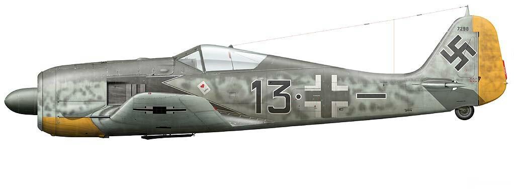 3 - Fw 190 A-5 du Major Josef Priller, Stab JG 26, Lille-Vendeville France, Juin 1943.