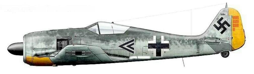 9 - Fw 190 A3, Stab I.JG26 de Johannes Seifert, France 1941
